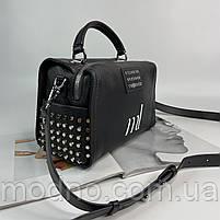 Жіноча шкіряна сумка бочонок на і через плече Polina & Eiterou, фото 5