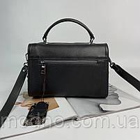 Жіноча шкіряна сумка бочонок на і через плече Polina & Eiterou, фото 7