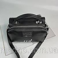 Жіноча шкіряна сумка бочонок на і через плече Polina & Eiterou, фото 8