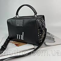 Жіноча шкіряна сумка бочонок на і через плече Polina & Eiterou, фото 6