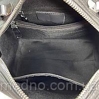 Жіноча шкіряна сумка бочонок на і через плече Polina & Eiterou, фото 9