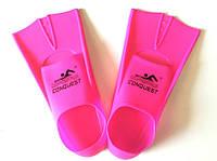 Ласты детские силиконовые укороченные с закрытой пяткой для бассейна р. 30-32 (18-19,5 см)