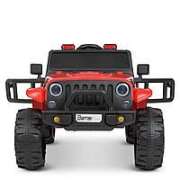 Электромобиль детский джип с большими EVA колесами. Радиоуправляемый. 5км/ч. 2 мотора по 25W. M 4282EBLR-3