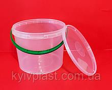 Відро пластикове харчове 5л прозоре