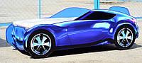 Детская кровать машина синяя Nissan (Cпальное место 150*70 см)