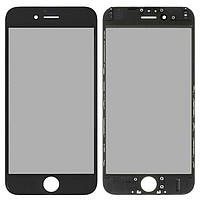 Корпусне скло дисплея Apple iPhone 6 чорний, копія, OCA плівка, рамка, поляризація