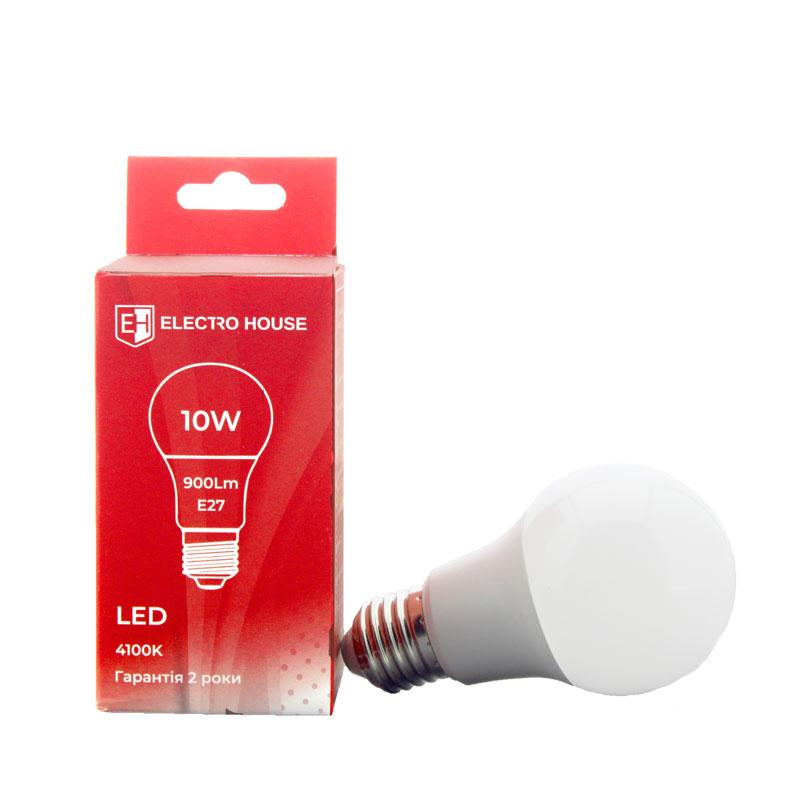 LED лампа 4100K E27 / 10W 900Lm /220° A60