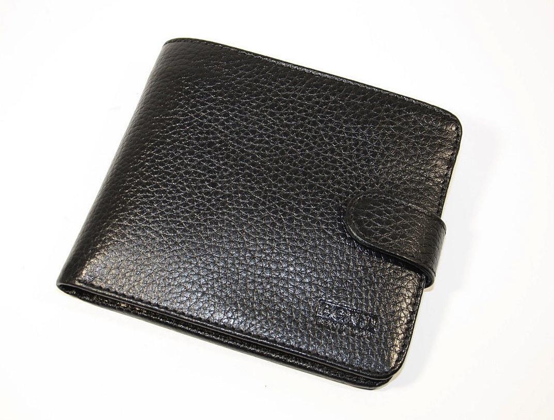 Кошелек мужской кожаный черный карты, монеты Bond Non 547-281 Турция