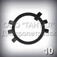 Шайба 10 ГОСТ 11872-89 стопорная многолапчатая