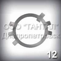 Шайба 12 оцинкована ГОСТ 11872-89 стопорная многолапчатая