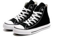 Высокие черно-белые кеды Converse All Star 34-46р