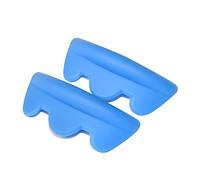 Бигуди из ЭКО силикона, синие LL