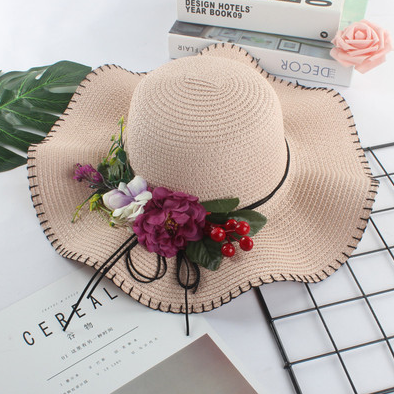 Женская пляжная летняя шляпа Irina pink