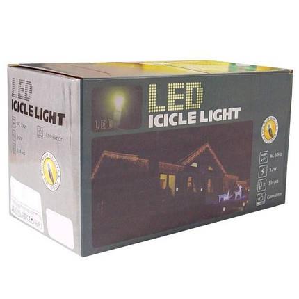 Гирлянда уличная Сосульки Xmas M-1, 5 м, 120 LED-ламп, белая, разноцветный свет, фото 2