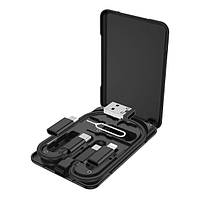 Кабель для зарядки 3 в 1 HOCO U86 Lightning, Micro USB, Type-C, чорний, фото 2