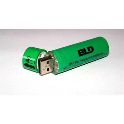 Аккумулятор 18650 Li-ion 3.7v BLD USB18650 3800 mAh c USB зарядкой, фото 2