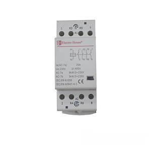 Контактор модульный 25А 230V 2 НО+2 НЗ