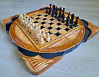 Шахматы ручной работы, резьба по дереву