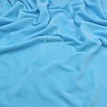 Лоскут велюра х/б бирюзового цвета, размер 40*180 см, фото 4