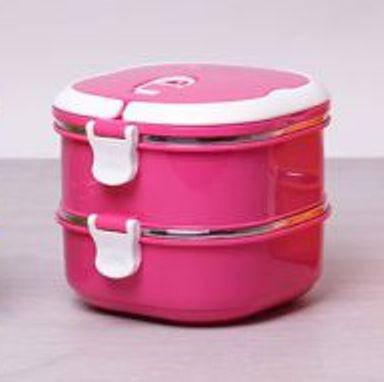 Термос для їжі харчовий термос 2 рівня по 700 мл Empire 1519 Pink, фото 2