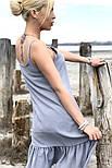 Женский сарафан летний короткий с открытыми плечами и воланом (Норма), фото 5