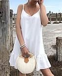 Женский сарафан летний короткий с открытыми плечами и воланом (Норма), фото 9