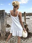 Женский сарафан летний короткий с открытыми плечами и воланом (Норма), фото 10