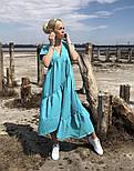 Легкое платье женское льняное свободного кроя с воланами длины Миди (Норма, Батал), фото 8