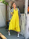 Легкое платье женское льняное свободного кроя с воланами длины Миди (Норма, Батал), фото 9