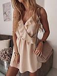 Женское летнее платье с имитацией запаха на бретелях (Норма), фото 3