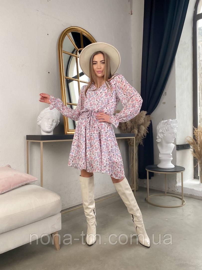Жіноче трендові весняна сукня в квітковий принт (Норма)