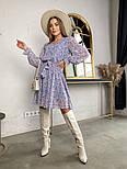 Жіноче трендові весняна сукня в квітковий принт (Норма), фото 3
