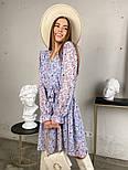 Жіноче трендові весняна сукня в квітковий принт (Норма), фото 9