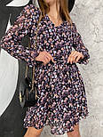 Жіноче трендові весняна сукня в квітковий принт (Норма), фото 10