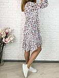 Жіноче ніжна шифонова сукня вільного крою в квітковий принт (Норма і батал), фото 3
