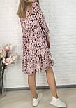 Жіноче ніжна шифонова сукня вільного крою в квітковий принт (Норма і батал), фото 4