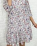 Жіноче ніжна шифонова сукня вільного крою в квітковий принт (Норма і батал), фото 9