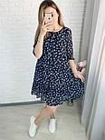 Жіноче ніжна шифонова сукня вільного крою в квітковий принт (Норма і батал), фото 10