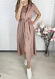 Женское стильное легкое платье из софта длины миди (Норма и батал), фото 2