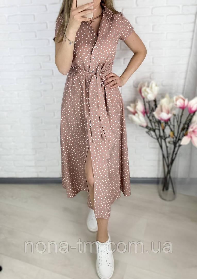 Стильне жіноче легке плаття з софта довжини міді (Норма і батал)