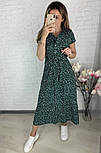 Стильне жіноче легке плаття з софта довжини міді (Норма і батал), фото 2