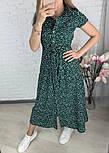 Стильне жіноче легке плаття з софта довжини міді (Норма і батал), фото 5
