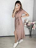 Стильне жіноче легке плаття з софта довжини міді (Норма і батал), фото 7