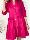 Женское легкое коттоновое платье свободного кроя на пуговицах (Норма и батал), фото 2