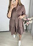 Женское легкое коттоновое платье свободного кроя на пуговицах (Норма и батал), фото 3
