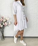 Женское легкое коттоновое платье свободного кроя на пуговицах (Норма и батал), фото 4