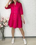 Женское легкое коттоновое платье свободного кроя на пуговицах (Норма и батал), фото 5