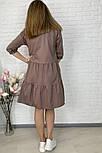 Женское легкое коттоновое платье свободного кроя на пуговицах (Норма и батал), фото 6