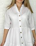 Женское легкое коттоновое платье свободного кроя на пуговицах (Норма и батал), фото 7