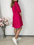 Женское легкое коттоновое платье свободного кроя на пуговицах (Норма и батал), фото 8